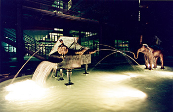 Oh! Perrette, Opérette pour bronze et eau (Erik Dietman)